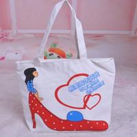 Bag one shoulder casual print bag eco-friendly bag canvas bag