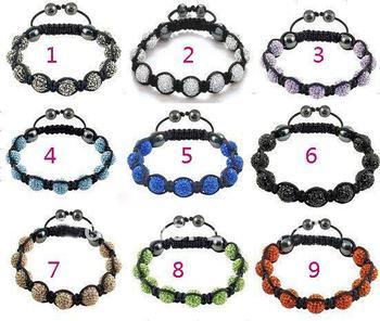 Factory price of Shamballa Bracelet shambhala Bracelet 9 drill ball bracelets bracelets weave handmade fashion leisure