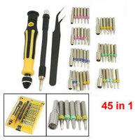 45 in 1 Magnetic Phillips Hex Screwdriver Bit + Extended Adapter Tweezers Set