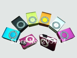 Wholesale gift free shipping Clip mp3 music player with card slot mini mp3 player & 8 color MP3001(Hong Kong)