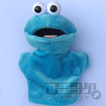 New arrive Super soft velvet puppet hand blue sesame street
