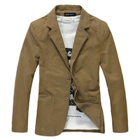 2013 spring men's casual male slim plus size blazer outerwear plus  Free shippin