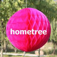 "6"" Fuchsia Tissue Honeycomb Ball Paper Lanterns Home Garden Party Wedding Birthday Bridal Decoration Gift Free Shipping"