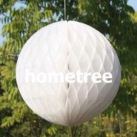 "6"" White Tissue Honeycomb Ball Paper Lanterns Home Garden Party Wedding Birthday Bridal Decoration Gift Free Shipping"