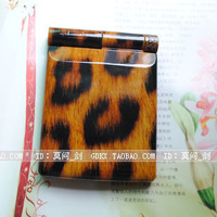 Leopard print hot-selling led makeup mirror 8 lamp mirror folding double faced mirror