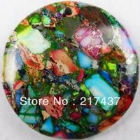 D0043 Free Shopping Beautiful Romantic Fashion Natural Sea Sediment Jasper&Pyrite pendant bead 1pcs/lot
