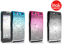 IMAK raindrop Quicksand Shell Ultra-thin Skin Case For Motorola XT910 maxx Droid RAZR with screen protector,Free shipping