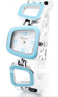 Free shipping,hot selling,ladies fashion table geometry shaped bracelet watch women's watch