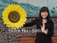 diameter 25cm dance props artificial sunflower with multi-layer sides 10pcs/lot