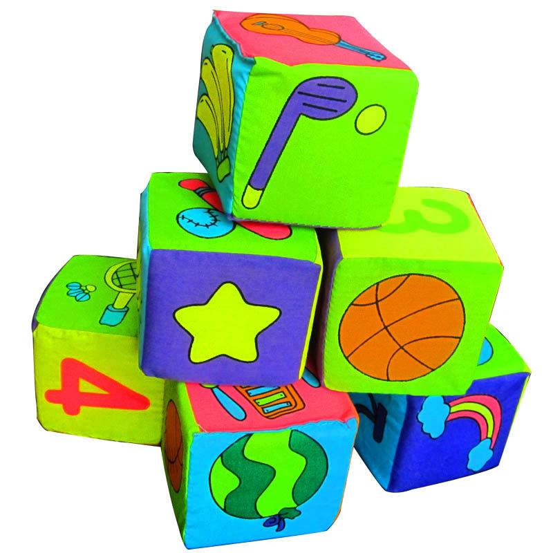High quality Itty-Bitty multifunctional cloth quarter blocks for kids Six surface baby bell toys Gifts(China (Mainland))