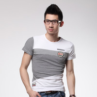 2013 t-shirt men's clothing fashion slim T-shirt male short-sleeve o-neck casual t-shirt