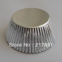 100pcs Silver Foil Cupcake Liners Greaseproof Paper bakeware cake decorating Baking Pastry Tools in large stocks free shipping