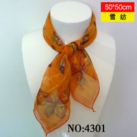 Butterfly silk scarf female spring and autumn chinese style summer beach towel small 43 facecloth
