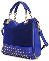 Hot Sale! Bags 2013 personality rivet patchwork shoulder bags handbag women's handbag women's bag Discount