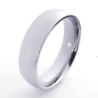 Fashion Jewelry Stainless Titanium Steel Rings 6mm Wide Silver Slippy Circle Couple Rings Wedding Engagement Rings 21268