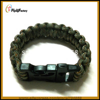 Free shipping Lifesaving parachute rope Camping parachute Cord Bracelets Whistle Buckle Survival Bracelet Single color