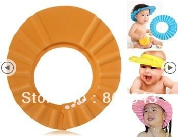 Free Shipping Lovely Soft Child Kid Shampoo Bath Shower Cap Baby Wash Hair Shield Hat Random Color