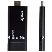 2013 wholesale cheap GK802 Smart Mini A9 Quad Core Android 4.0.4 DRM 1GB 8GB Flash TV Box HDMI TV Stick Media Player (Black)