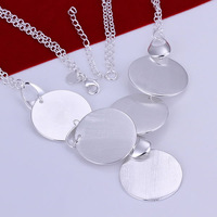 N197 high quality! free shipping wholesale 925 silver necklace, 925 silver fashion jewelry Round Plate Necklace
