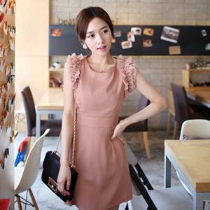 2013 spring and summer sweet gentlewomen fiona elegant pearl princess sleeve one-piece dress(China (Mainland))