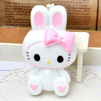 wholesale 2PCS  sitting my melody Long ear rabbit flatback resin accessory jewerly supplies[JCZL DIY Shop]