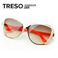 Top 9colors wholesales fashion retro vintage sunglass aviator sunglasses women brand designer original box