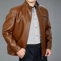 2014 Hot SEPTWOLVES stand collar plus velvet genuine leather sheepskin male motorcycle leather clothing jacket men's clothing