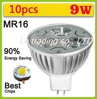 10pcs/lot CREE Hot Selling Dimmable High power MR16 3X3W 9W LED Lamp Spotlight downlight lamp 12V Free shipping