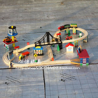 2013 new arrival Train track toy set wool train model
