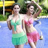 Vega 2013 poem bikini belt push up sexy beautiful split swimwear