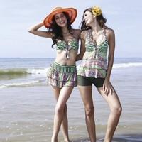 Poem 2013 vega fresh sexy bikini small split skirt style swimwear