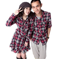 Metis male clothing dress long-sleeve 100% cotton plaid shirt lovers