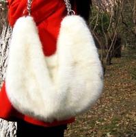 2012 women's handbag faux bag ball chain one shoulder cross-body handbag fur bags