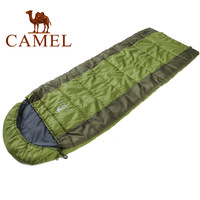 Camel outdoor sleeping bag outdoor camping sleeping bag adult ultra-light spring and autumn patchwork double sleeping bag