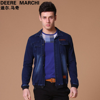 2013 spring male fashionable denim long-sleeve casual outerwear dc50