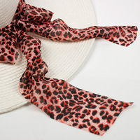 panda design long silk scarf multifunctional ribbon hat accessories bandeaus color