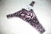 Amazing! 3D tiger briefs supper soft sexy gstring purple lady sexy Tback sexy panties good sexy underwear for women sexy thongs