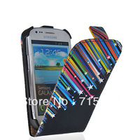 Your Favorites FLOWER STYLE LEATHER FLIP POUCH CASE COVER FOR SAMSUNG GALAXY S3 MINI I8190  FREE SHIPPING