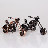 Free shipping Small tieyi motorcycle new house decoration wedding gifts decoration modern brief crafts