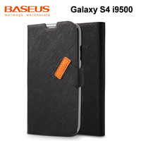 Original BASEUS Faith  For Samsung Galaxy S4 i9500 side flip Leather Case, Galaxy S4 wallet case Retail package Free ship