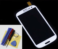 LCD Screen Faceplate Outer Lens Glass White for Samsung Galaxy S3 SIII i9300+tool
