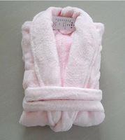 Coral fleece bathrobe coral fleece robe sleepwear light pink lounge ,free shipping