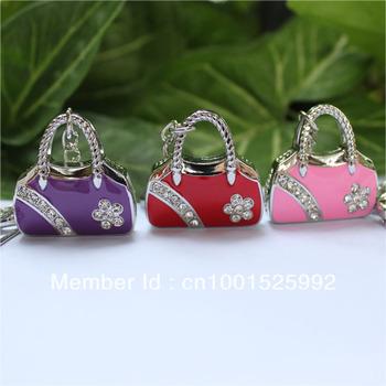 woman handbag usb flash drive1GB/2GB/4GB/8GB/16GB/32GB/64GB  novelty deisgn jewellery crystal flash memory stick pen drive