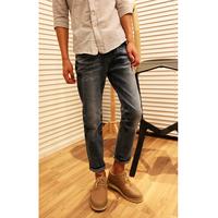2013 spring water wash wearing white slim male 9 pants skinny jeans
