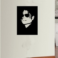 Free shipping  Wall Decal Wall Stickers  Vinyl Removable wall Art Mural  Michael Jackson r-205