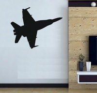 Free shipping Wall Decal Wall Stickers Wall  Decoration Vinyl Removable Art Mural PLANE battleplane J-103