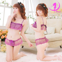 Free Shipping!2013 New Hot women purple transparent low cut soft bikini lingerie gstring sexy lingerie women lace skirt