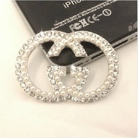 Free Shipping 5PCS Bling Fashion Logo Flatback Alloy Nice jewelry accessories