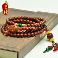 India lobular red sandalwood beads bracelet lobular red sandalwood lotus bracelet