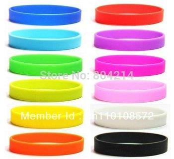 Hot 12 Colours Silicone Rubber Sport Wristband Cuff Bracelet Wrist Band